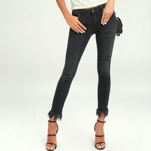 """Free People """"Great Heights"""" Frayed Denim"""